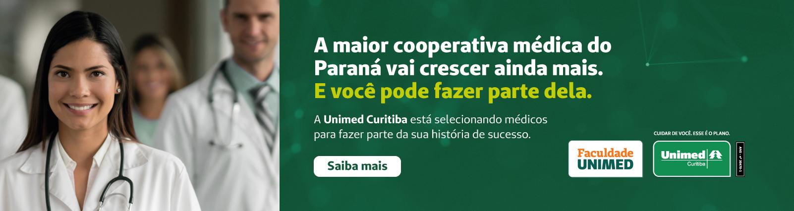 Banner processe seletivo Unimed Curitiba