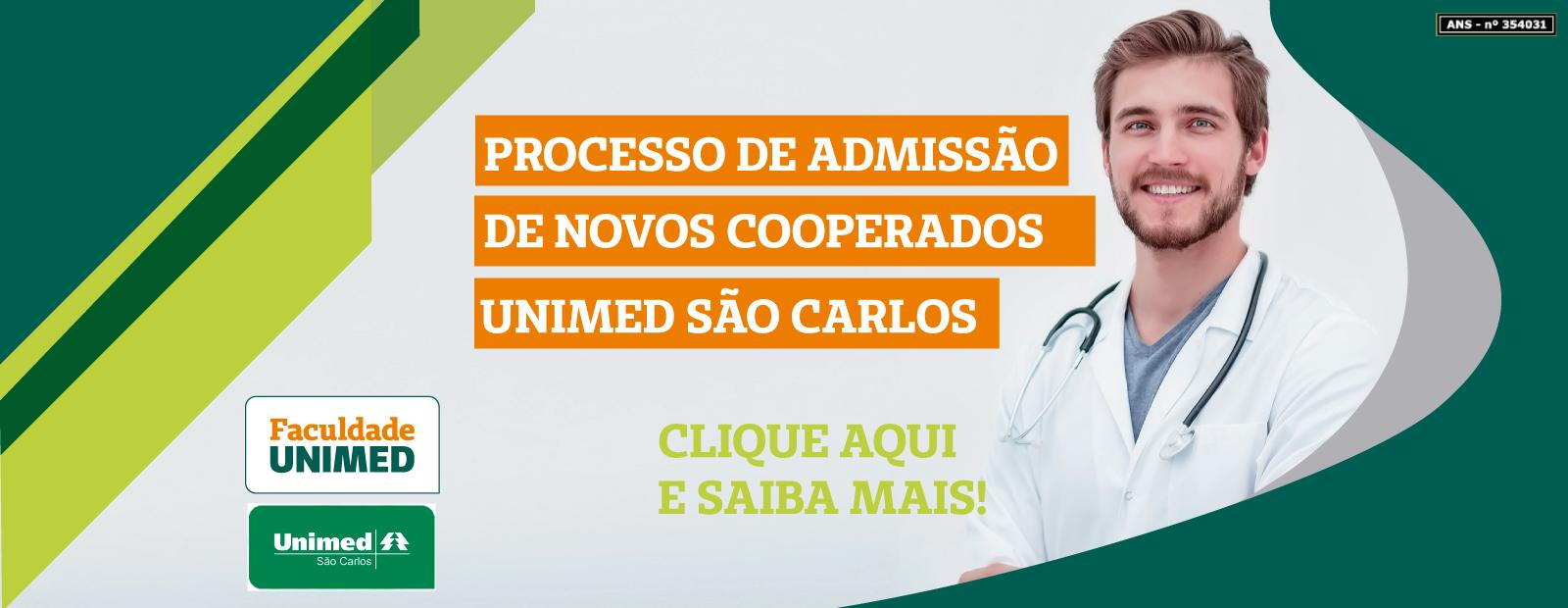 Processo de Admissão de Novos Cooperados Unimed São Carlos