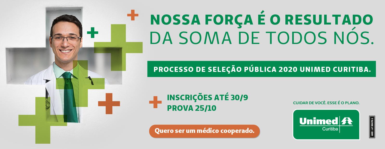 Banner processo seletivo Unimed Curitiba